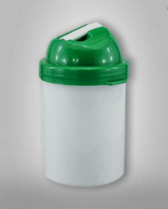 Cantimplora Plastica Verde Sublimable Fotoshop