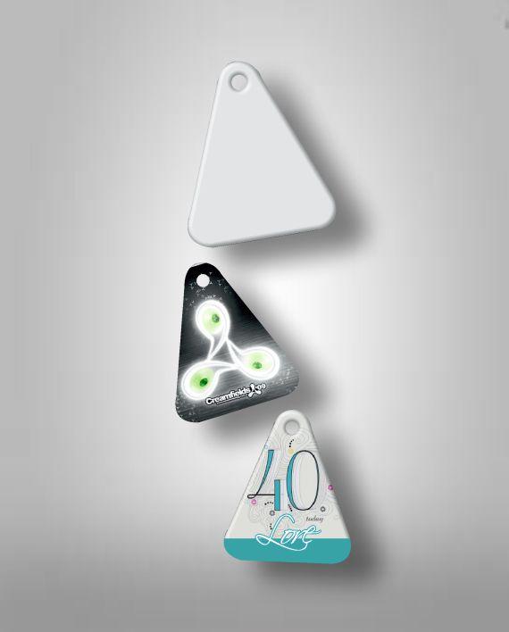 Llavero Triangulo Plastico Sublimable Fotoshop