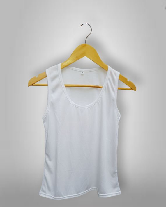 Musculosa Femenina Blanca Sublimable Fotoshop