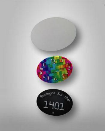 Cartel Oval Plástico Sublimable