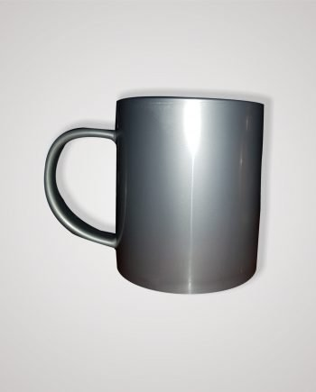 Taza Plástica Sublimable Plateada